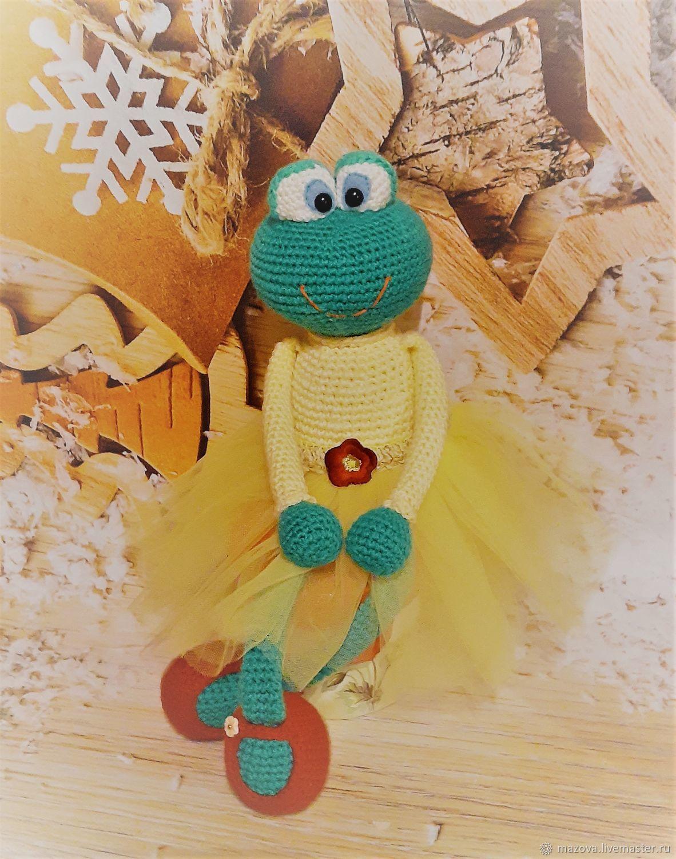 Вязаная Лягушка Кваврора, Мягкие игрушки, Химки,  Фото №1