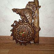 """Часы классические ручной работы. Ярмарка Мастеров - ручная работа Часы из дерева """"ГЛУХАРЬ"""". Handmade."""