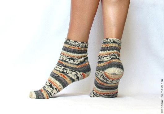 Носки, Чулки ручной работы. Ярмарка Мастеров - ручная работа. Купить Вязаные шерстяные носки - арт. Абхазия. Handmade. Разноцветный