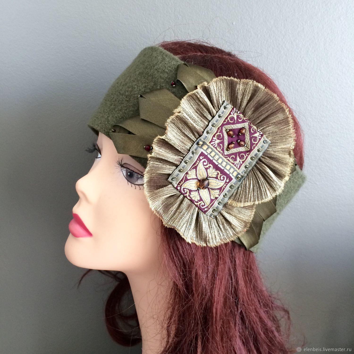 Headband with decoration in the style boho, Bandage, Moscow,  Фото №1