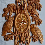 Часы ручной работы. Ярмарка Мастеров - ручная работа Часы настенные Совушки. Handmade.
