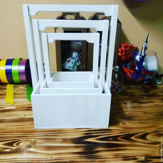 Подставки под цветы ручной работы. Ярмарка Мастеров - ручная работа. Купить Набор коробок. Handmade. Белый, флористические материалы