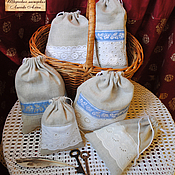 Русский стиль ручной работы. Ярмарка Мастеров - ручная работа Русский быт: мешочки. Handmade.