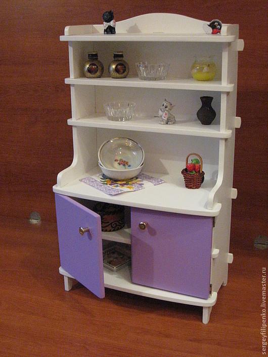 Кукольный дом ручной работы. Ярмарка Мастеров - ручная работа. Купить кухонный буфет.. Handmade. Кукольная миниатюра, подарок ребенку