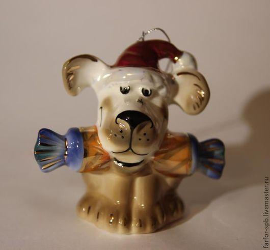 Персональные подарки ручной работы. Ярмарка Мастеров - ручная работа. Купить Елочная игрушка Год собаки. Handmade. Комбинированный, сувенир