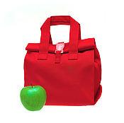Классическая сумка ручной работы. Ярмарка Мастеров - ручная работа Сумка для обедов женская, размер Стандарт, Красная. Handmade.