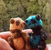 Куклы и игрушки ручной работы. Ярмарка Мастеров - ручная работа Медведь игрушка панда тедди, 6 -7 см. Handmade.