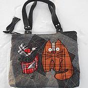 """Классическая сумка ручной работы. Ярмарка Мастеров - ручная работа Сумка """"Толстый ,рыжий,наглый кот !""""). Handmade."""