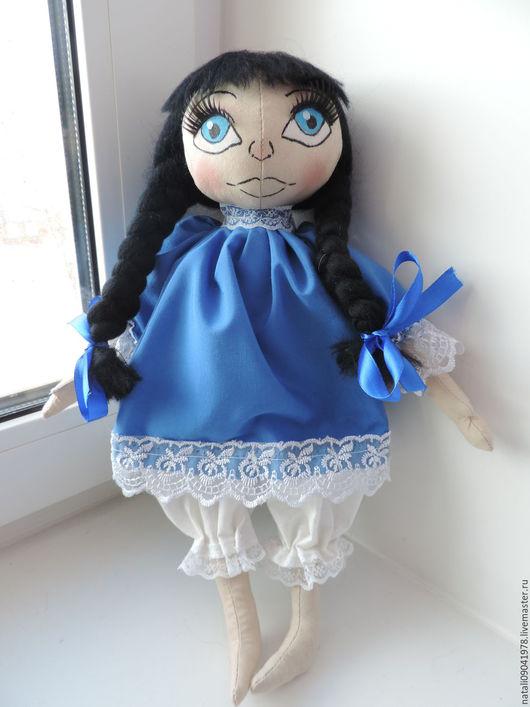 Куклы тыквоголовки ручной работы. Ярмарка Мастеров - ручная работа. Купить Текстильная  кукла. Handmade. Синий, кукла ручной работы