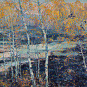 Картины и панно handmade. Livemaster - original item Oil painting Autumn time. Painting. Landscape.. Handmade.