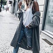 Одежда handmade. Livemaster - original item Women`s cardigan gray long. Handmade.