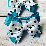 Hairpins handmade. Livemaster - original item Hair bow of REP ribbons