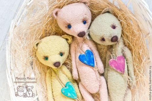 Мишки Тедди ручной работы. Ярмарка Мастеров - ручная работа. Купить Верю в любовь.... Handmade. Бледно-розовый, тедди