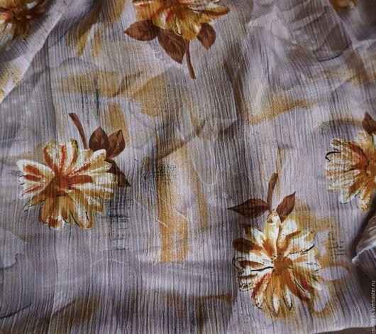 Шитье ручной работы. Ярмарка Мастеров - ручная работа. Купить Ткань Чудесный креп жоржет шелковый винтажный. Handmade.