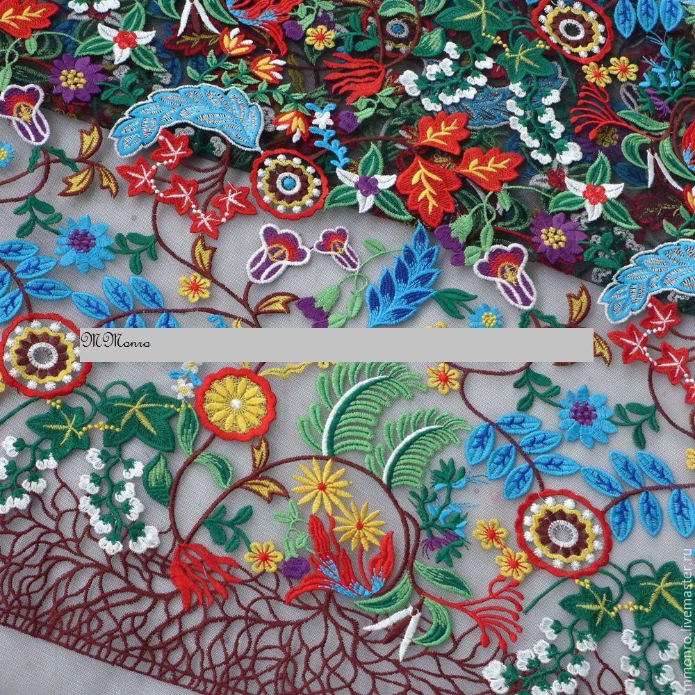 Embroidery on a grid, Desiree, Fabric, Podolsk,  Фото №1