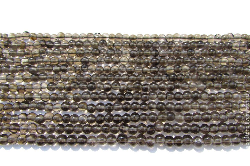 Smoky Quartz Smooth Round (Quality A) / SM-001, Beads1, Moscow,  Фото №1
