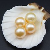 Материалы для творчества handmade. Livemaster - original item Natural semi-drilled yellow-gold class AAA pearls. Handmade.