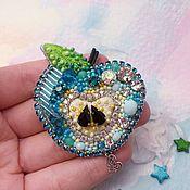 Украшения handmade. Livemaster - original item Brooch MINT APPLE. Handmade.
