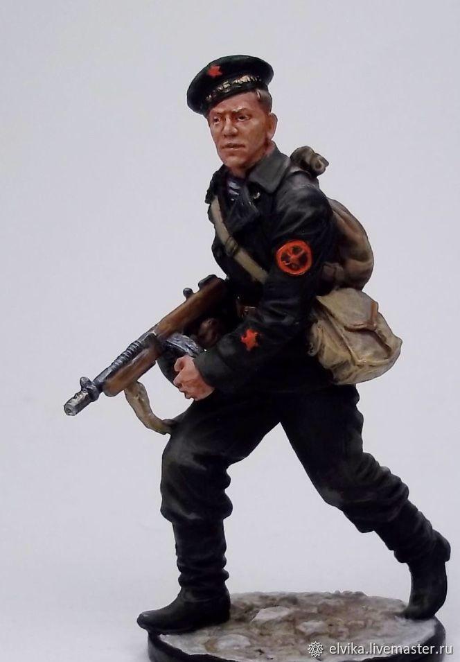 Tin soldier 54mm, Military miniature, St. Petersburg,  Фото №1