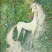 Картины и панно handmade. Livemaster - original item Pictures: Unicorn. Handmade.