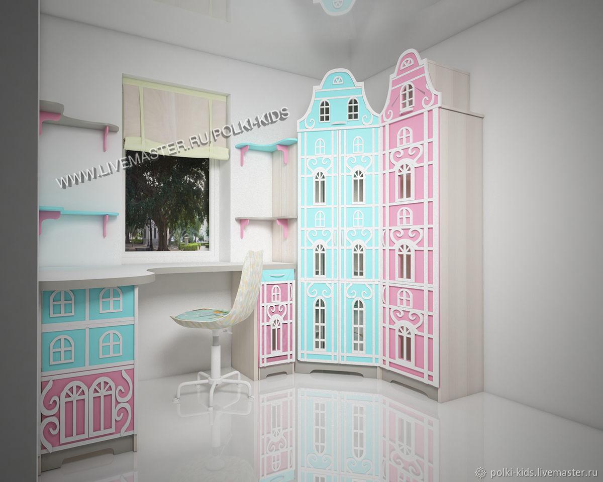 Детский замок из шкафов домиков со столом. Берта-1, Мебель для детской, Санкт-Петербург,  Фото №1