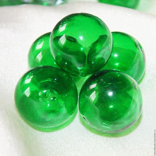 Для украшений ручной работы. Ярмарка Мастеров - ручная работа. Купить ЯРКО-ЗЕЛЕНЫЕ пузырьки 28 мм крупные бусины лэмпворк. Handmade.