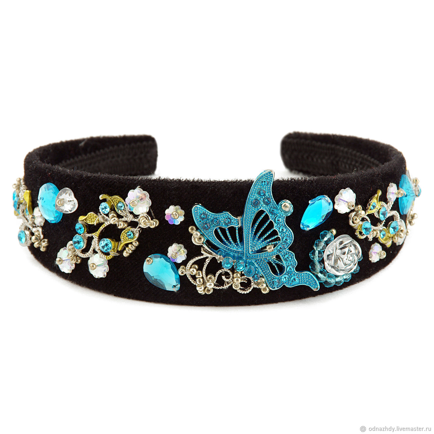 "Ободок для волос ""Butterfly blue"", Headband, Moscow,  Фото №1"