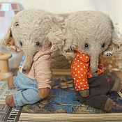 Куклы и игрушки ручной работы. Ярмарка Мастеров - ручная работа Момо и Попо (12 см). Handmade.
