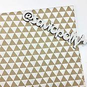 Ткани ручной работы. Ярмарка Мастеров - ручная работа Ткань хлопок Треугольники. Сатин. 100% Хлопок. Handmade.