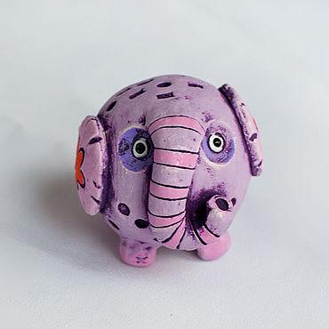 Сувениры и подарки ручной работы. Ярмарка Мастеров - ручная работа Слон керамический Лило. Сувенир слона, слон керамика. Handmade.