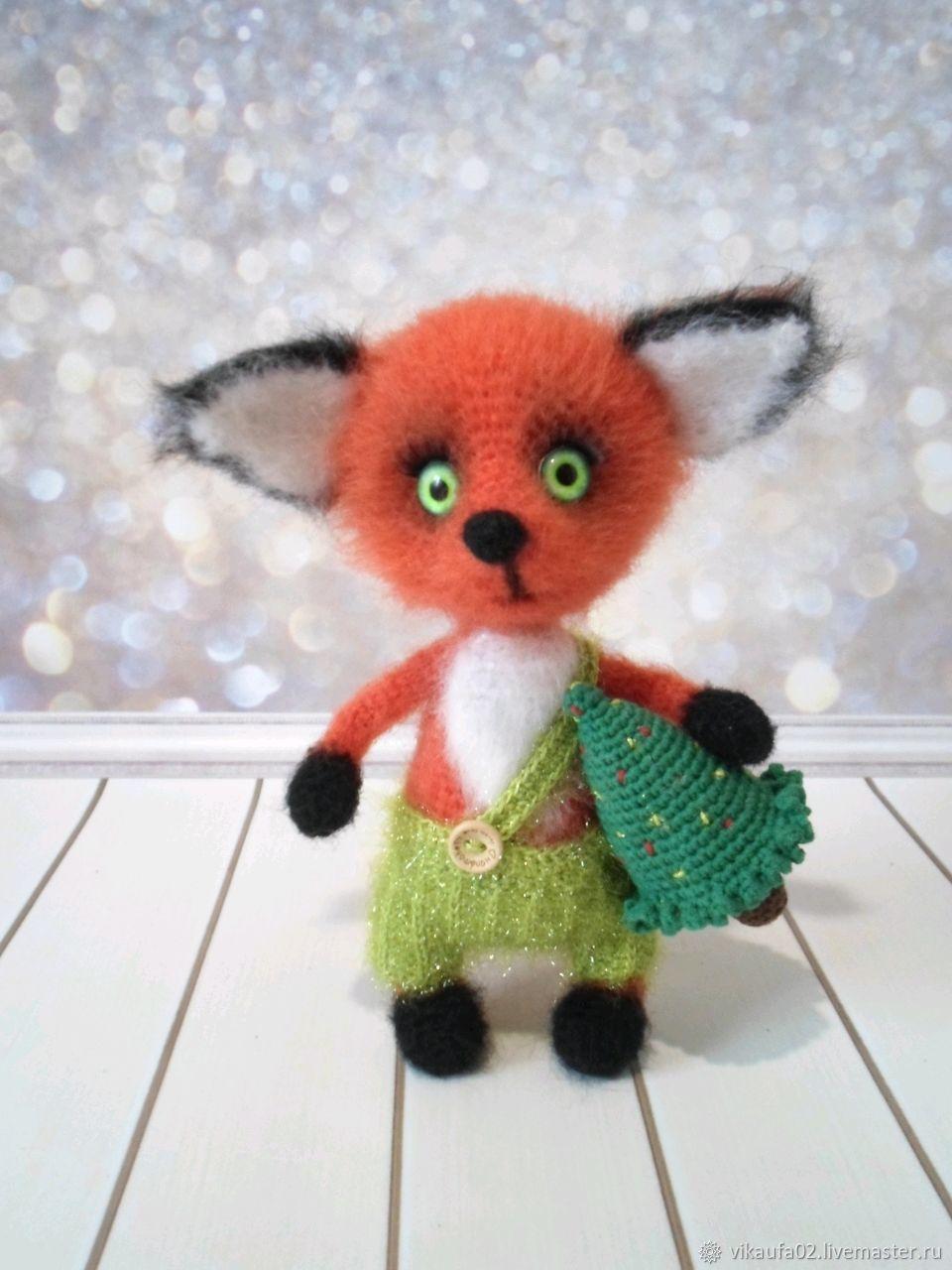 Fox with a Christmas tree, Stuffed Toys, Ufa,  Фото №1