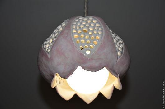 """Освещение ручной работы. Ярмарка Мастеров - ручная работа. Купить Светильник """"розовый гранат"""". Handmade. Розовый, Керамический светильник, нежный"""