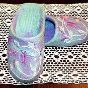 """Обувь ручной работы. Ярмарка Мастеров - ручная работа тапочки""""лаванда"""". Handmade."""