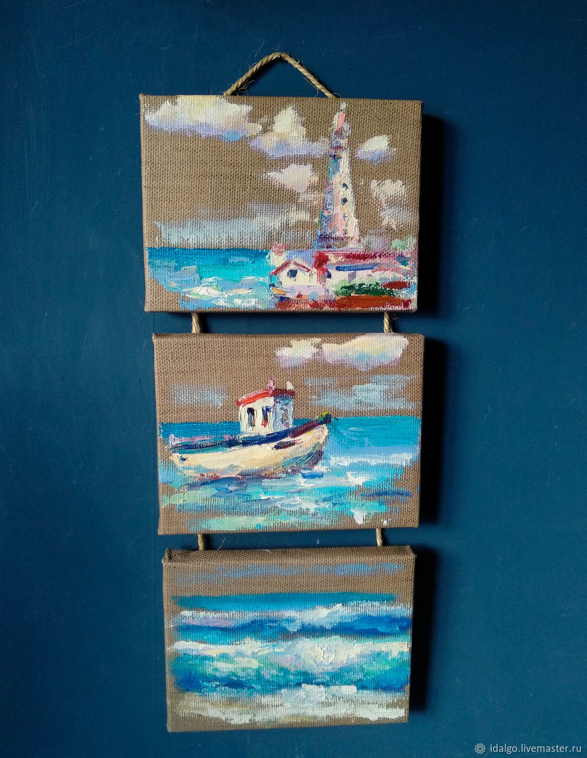 Oil painting 'Sea contrasts', triptych, Pictures, Nizhny Novgorod,  Фото №1