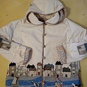 """Одежда ручной работы. Ярмарка Мастеров - ручная работа Куртка из хлопка """" Городок у моря"""". Handmade."""