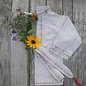 Народные рубахи ручной работы. Ярмарка Мастеров - ручная работа Косоворотка детская (+штаны). Handmade.