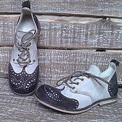 Обувь ручной работы. Ярмарка Мастеров - ручная работа Кожаные ботинки Vice Versa Paisley. Handmade.
