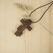 """Украшения ручной работы. Ярмарка Мастеров - ручная работа """"Старинный"""" - деревянный нательный крест-распятие. Handmade."""