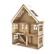 Кукольный домик 2 этажа и мансарда
