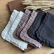 Для дома и интерьера handmade. Livemaster - original item Linen napkins with ruffles. Handmade.