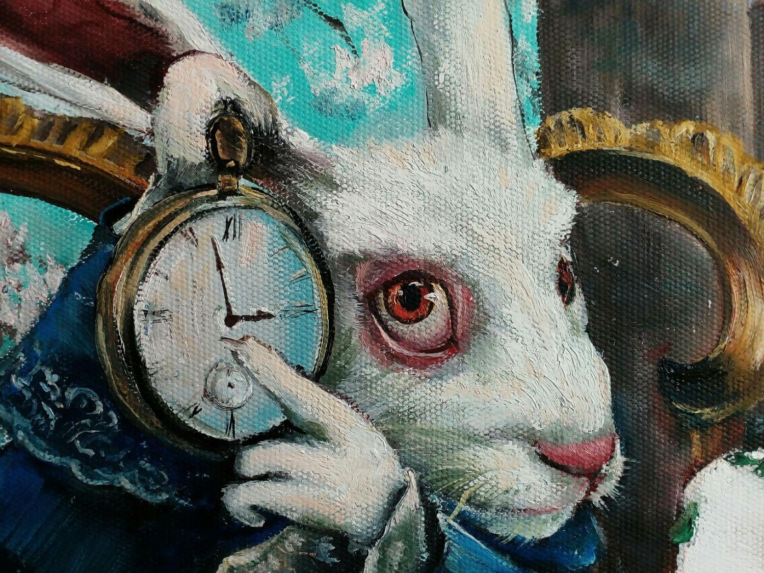 Белый кролик алиса картинка