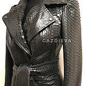 Одежда ручной работы. Ярмарка Мастеров - ручная работа Плащ трансформер из кожи питона. Handmade.
