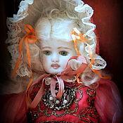 """Куклы и игрушки ручной работы. Ярмарка Мастеров - ручная работа фарфоровая кукла """"Сесиль-красная туфелька """". Handmade."""