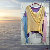 Одежда handmade. Livemaster - original item KN_003_GKASh Blouson a 4 x coloured. Handmade.