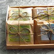 """Косметика ручной работы. Ярмарка Мастеров - ручная работа Подарочный набор мыла для мужчины """"Защитник"""", на травах, мужское. Handmade."""