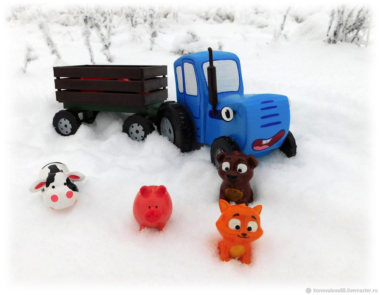 Игрушки: Синий трактор и его друзья, Техника роботы транспорт, Вологда,  Фото №1