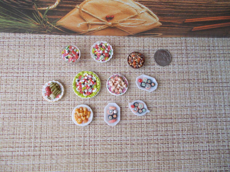 Еда для кукол, салаты, маринады, соленья, грибы 1:12, ручная работа, Кукольная еда, Псков,  Фото №1