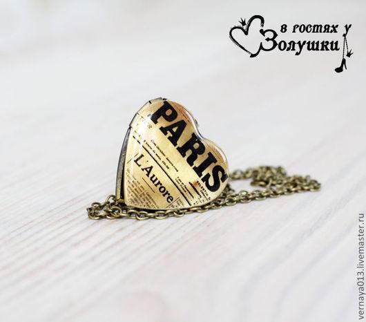 """Кулоны, подвески ручной работы. Ярмарка Мастеров - ручная работа. Купить Медальон-сердце """"Paris"""". Handmade. Черный, сердце"""