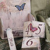 Канцелярские товары ручной работы. Ярмарка Мастеров - ручная работа Вечный календарь  Бабочки. Handmade.