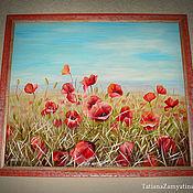 """Картины и панно ручной работы. Ярмарка Мастеров - ручная работа Картина """"Маковое поле"""". Handmade."""